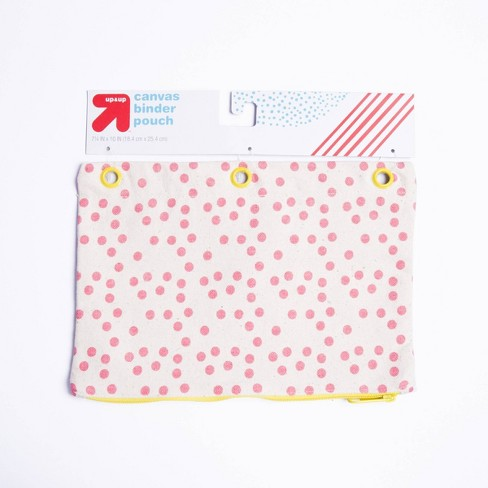 Polka Dot Canvas Pencil Cases - Pink - Up&Up™ - image 1 of 1