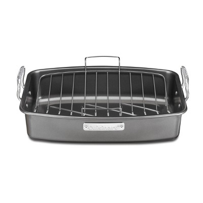 "Cuisinart 17"" X 13"" Non-Stick Roasting and Lasagna Pan with Non-Stick V-Rack - ASR-1713V"