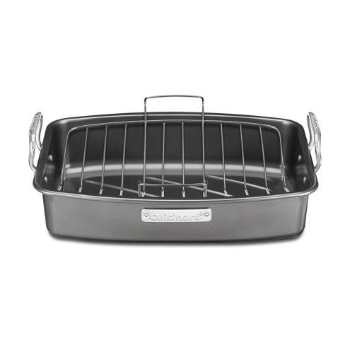 """Cuisinart 17"""" X 13"""" Non-Stick Roasting and Lasagna Pan with Non-Stick V-Rack-ASR-1713V - image 1 of 4"""
