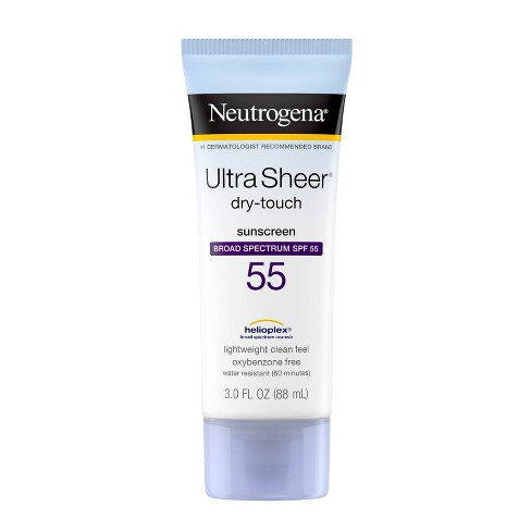 Neutrogena Ultra Sheer Dry Touch Sunscreen Lotion - SPF 55 - 3 fl oz - image 1 of 4
