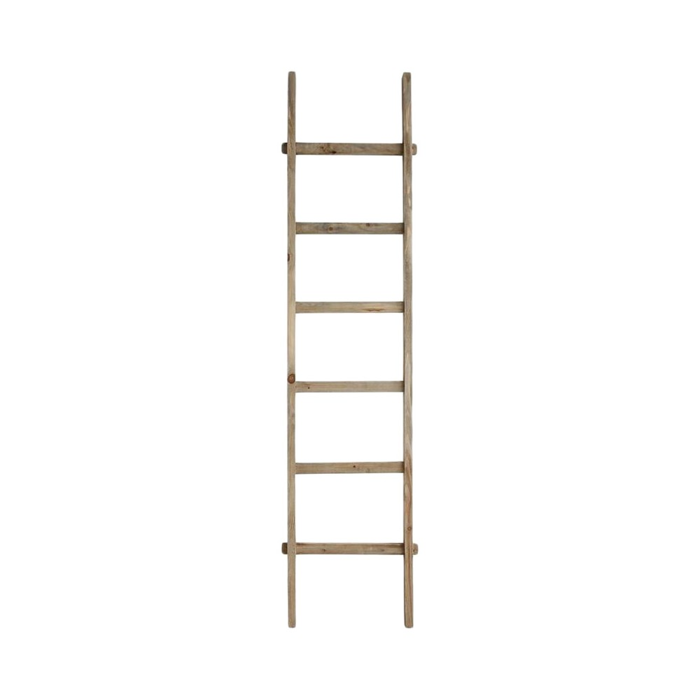 "Image of ""Decorative Wood Ladder (76"""") - 3R Studios, White"""