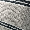 """18"""" x 18"""" Double Stripe Indoor/Outdoor Throw Pillow Black/Gray - Hearth & Hand™ with Magnolia - image 3 of 4"""