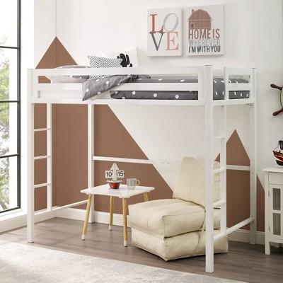 Twin Premium Deluxe Metal Loft Bed - Saracina Home