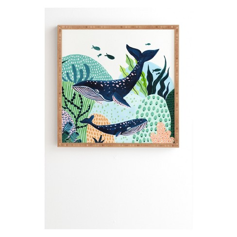 Ambers Textiles Blue Whale Family Framed Wall Art Green - society6 ...