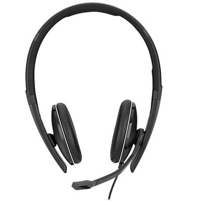 Sennheiser SC 165 Noise Canceling Stereo Headset Over-the-Head Black 508317