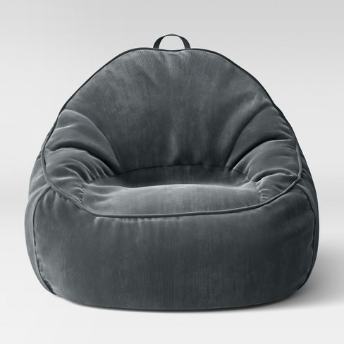 Amazing Xl Structured Bean Bag Chair Removable Cover Corduroy Zig Zag Gray Pillowfort Uwap Interior Chair Design Uwaporg