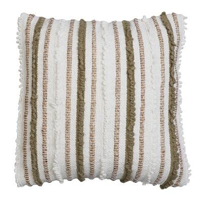 "2pk 20""x20"" Oversize Kloven Cotton Square Throw Pillows Green - Decor Therapy"