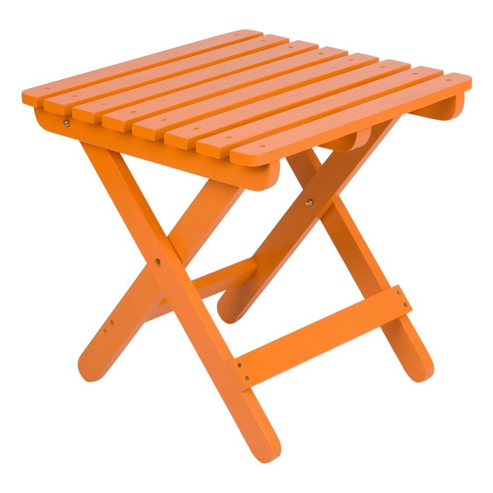 Image of Adirondack Square Folding Table - Tangerine