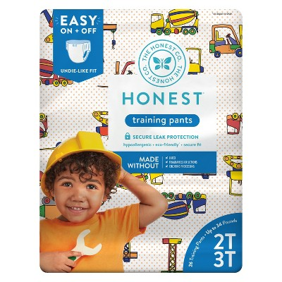 The Honest Company Training Pants Construction Zone - Size 2T-3T (26ct)