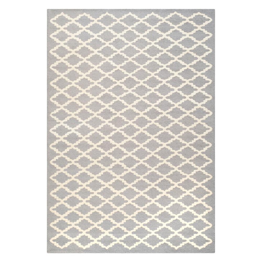 6 X9 Geometric Area Rug Silver Ivory Safavieh