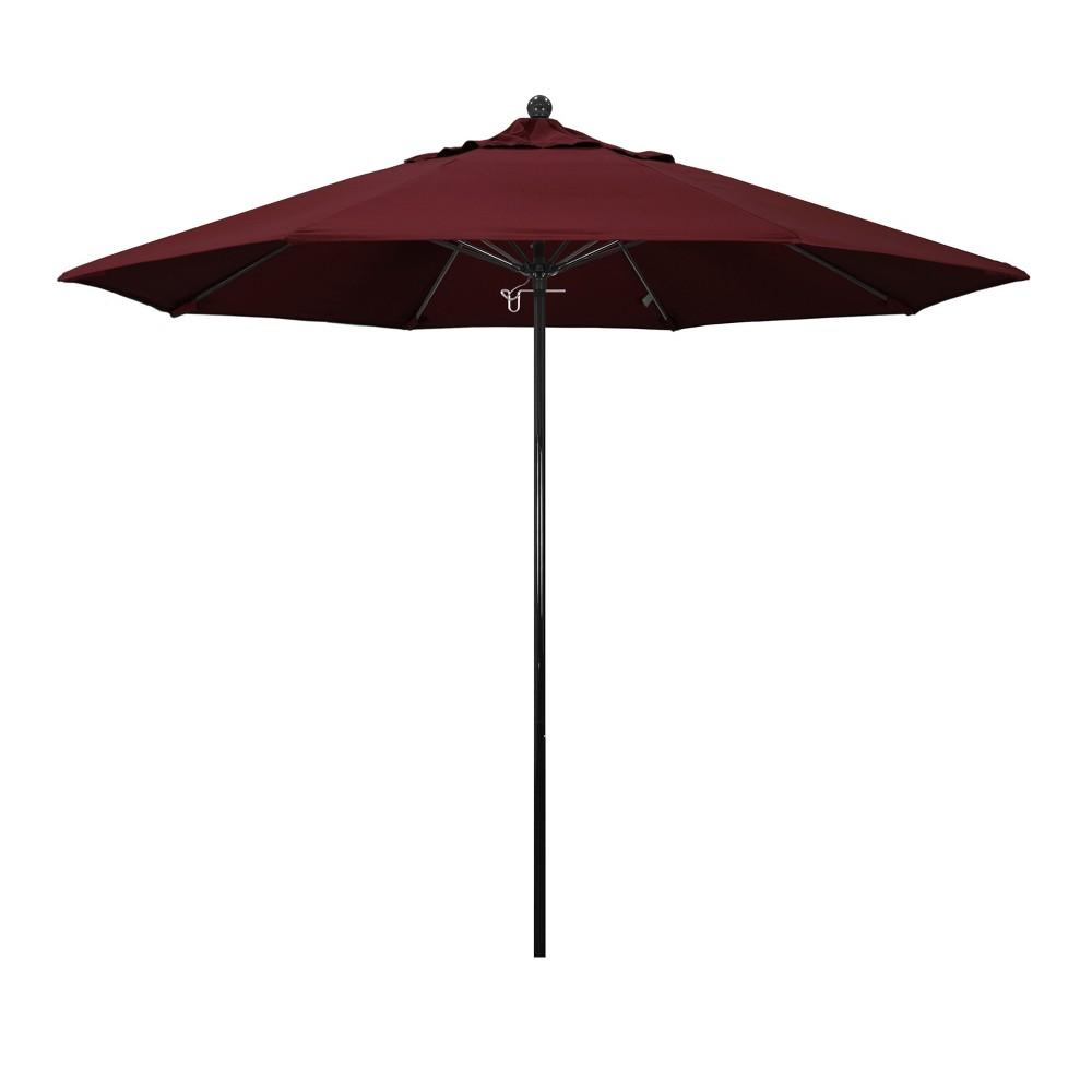 9' Aluminum Pulley Patio Umbrella - Red Pacifica