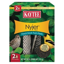 Kaytee Nyjer Seed Bird Feeder Finch Sock Twin Pack - 26oz