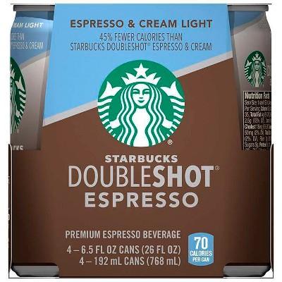Starbucks Doubleshot Espresso Light Premium Coffee Drink - 4pk/6.5 fl oz Cans