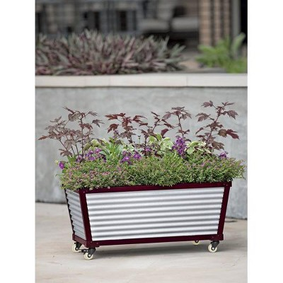 Short Galvanized Self-Watering Trough Planter - DACHENG HARDWARE MANUFACTURING CO LTD