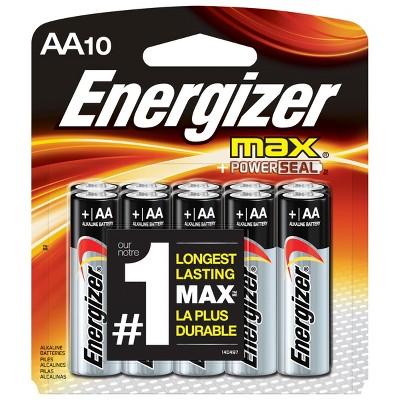 Energizer Max AA Alkaline Batteries 10-ct.