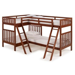 Twin Over Twin Aurora Bunk Bed with Quad Bunk Extension - Alaterre Furniture