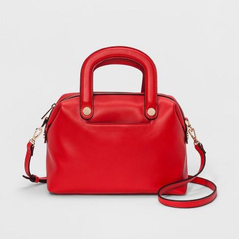 Trapunto Handle Satchel Handbag - A New Day™ - image 1 of 3