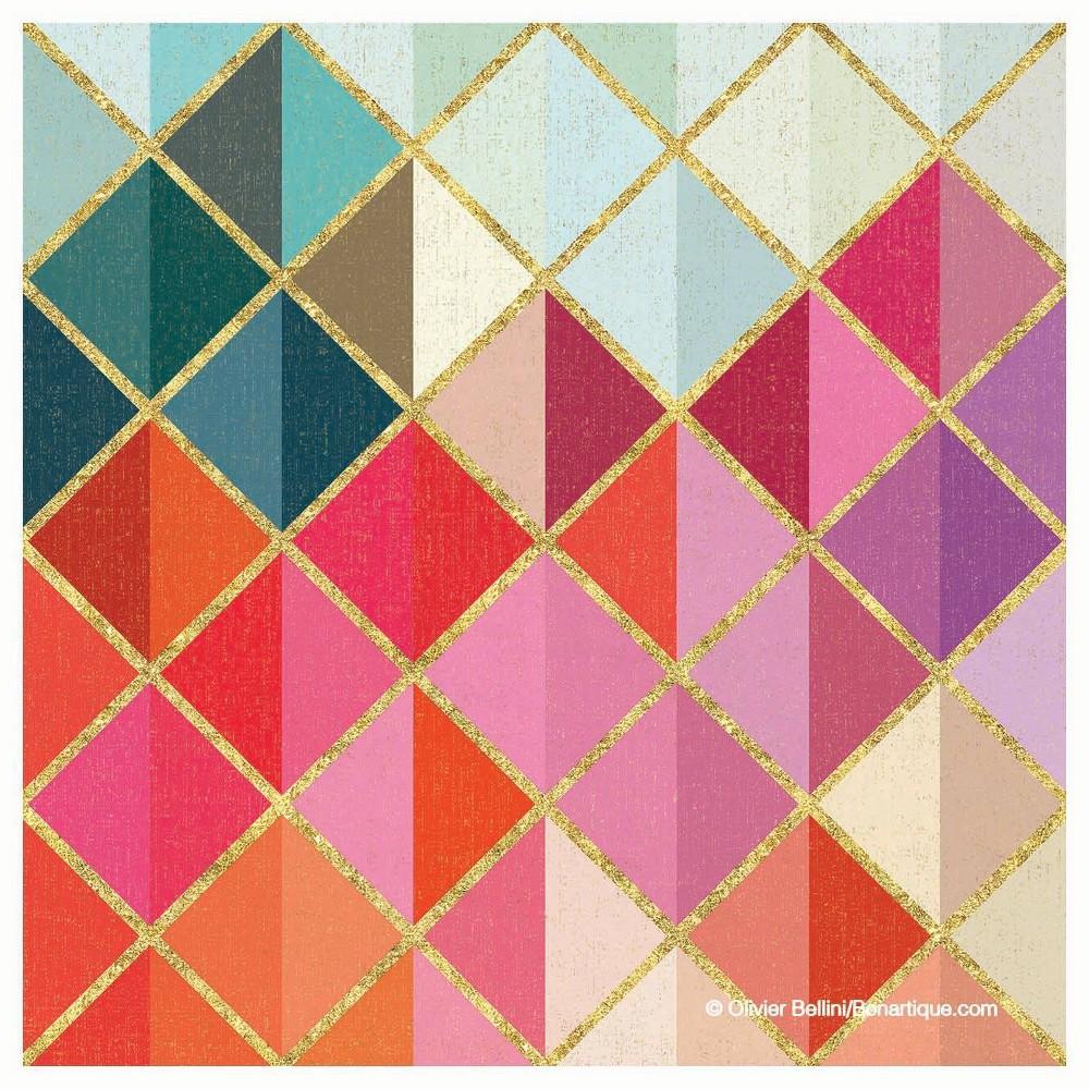 Image of 4pk Ceramic Rainbow Diamond Print Coasters - Thirstystone