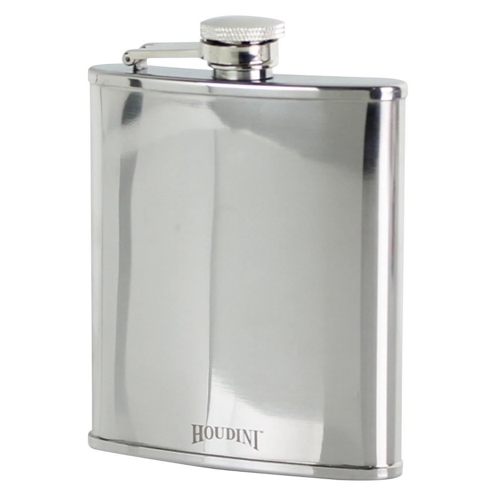 Image of Houdini 6oz Stainless Steel Flask, Silver
