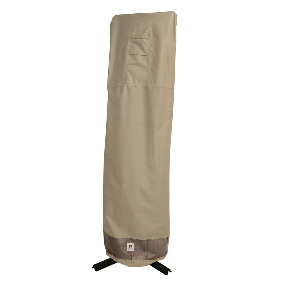 101H Elegant Patio Offset Umbrella Cover With Integrated Installation Pole Coffee (Brown) - Classic Accessories
