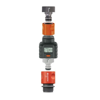 Gardena 9188 1 Outlet 4 Program Outdoor Smart Flow Water Meter with LCD Screen