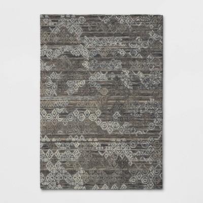 7'x10' Mariana Hand Tufted Distressed Geo Wool Area Rug - Opalhouse™