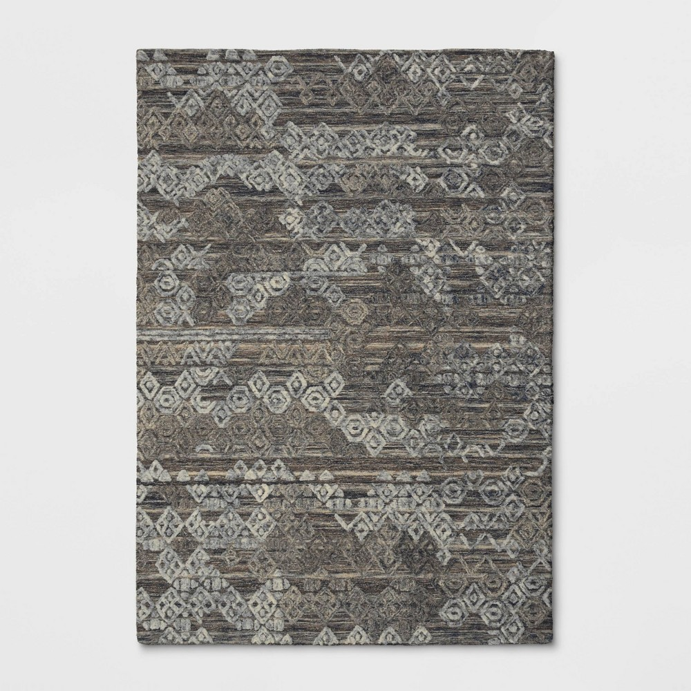 7'x10' Mariana Hand Tufted Distressed Geo Wool Area Rug - Opalhouse was $359.99 now $179.99 (50.0% off)