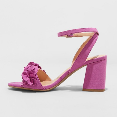 9f9d042fb34 Women s Nichelle Floral Heel Pumps - A New Day™ Orchid   Target