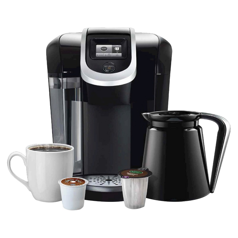 Keurig 2.0 K300 Coffee Maker Brewing System with Carafe, Black/Silver