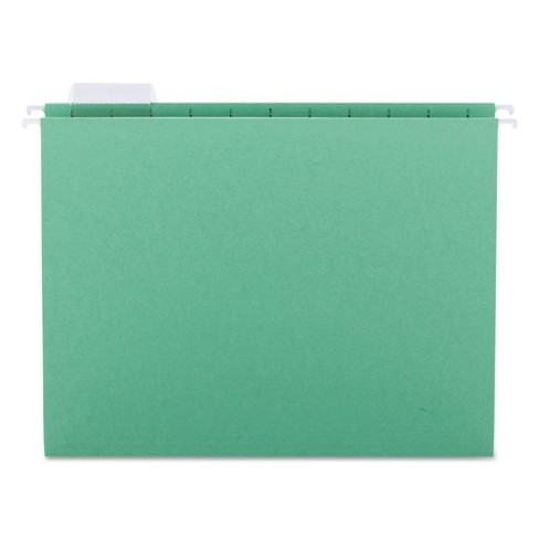 Smead® Hanging File Folders, 1/5 Tab, 11 Point Stock, Letter, Bright Green, 25/Box - image 1 of 3