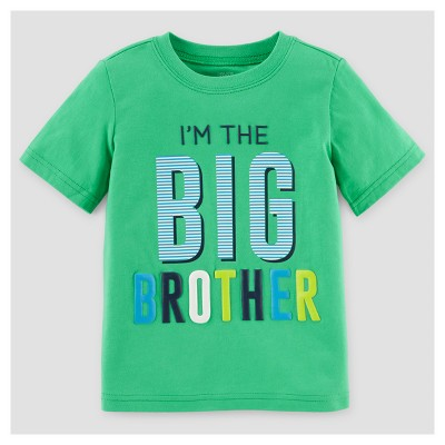 Toddler Boys' Big Brother T-Shirt - Just One You™ Made by Carter's® Green 3T