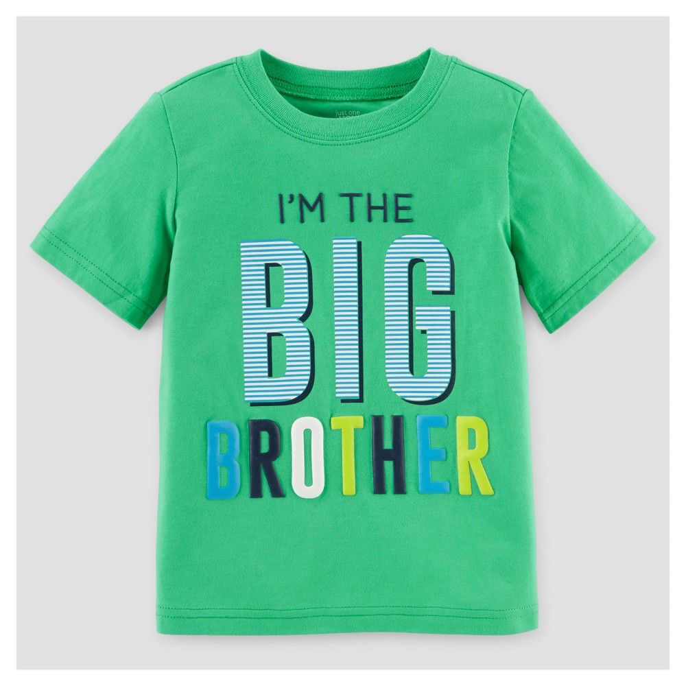 Toddler Boys' Big Brother T-Shirt - Just One You Made by Carter's Green 2T