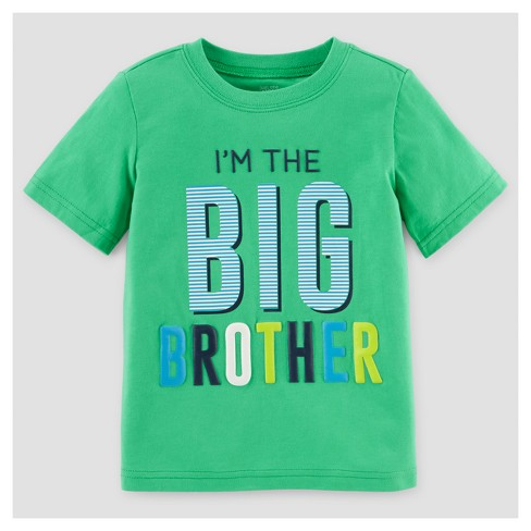 b6f8c02bd Toddler Boys' Big Brother T-Shirt - Just One You™ Made by Carter's® Green 2T