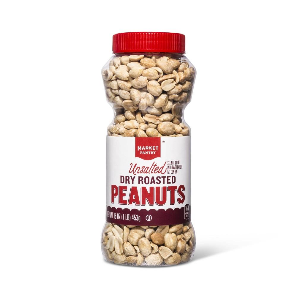 Unsalted Peanuts 16oz - Market Pantry