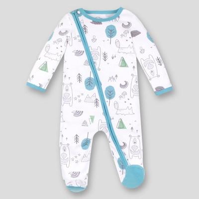 Lamaze Baby Boys' Organic Cotton Modern Woodland Sleep N' Play - Mint/White