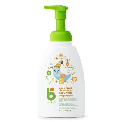 Babyganics Night Time Baby Shampoo + Body Wash, Orange Blossom - 16 fl oz Pump Bottle