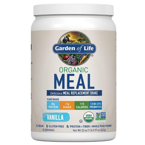 Garden of Life Organic Vegan Meal Replacement Shake Mix - Vanilla - 22oz - image 1 of 4