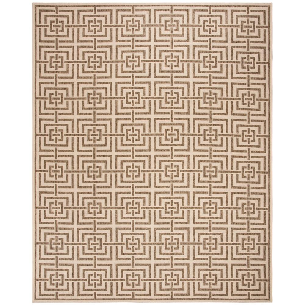 8'X10' Geometric Loomed Area Rug Cream (Ivory) - Safavieh