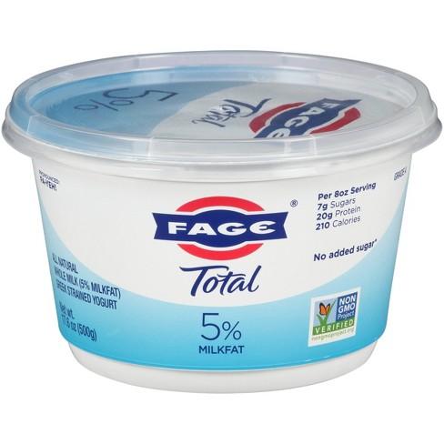 FAGE Total 5% Milkfat Plain Greek Yogurt - 17.6oz - image 1 of 3