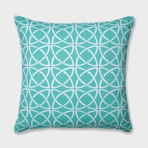 "25"" Catamaran Tile Floor Pillow Aqua - Pillow Perfect - image 1 of 1"