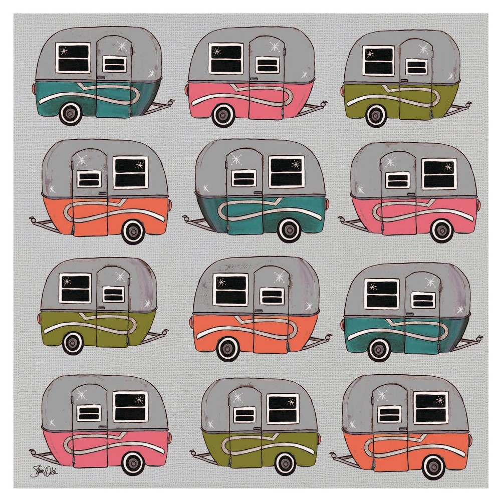 Image of Thirstystone Happy Camper Pattern Coaster Set of 4