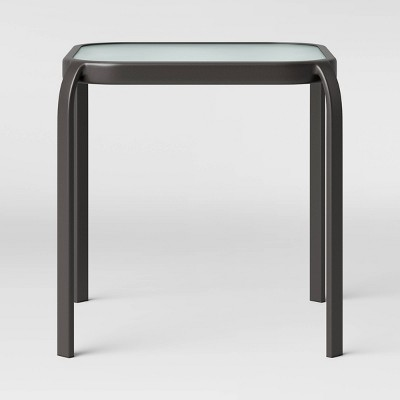 Glass Patio Side Table - Clear - Room Essentials™