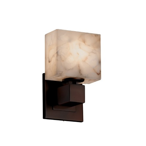 "Justice Design Group ALR-8707-55 Alabaster Rocks 5.5"" Aero 1 Light ADA Compliant Wall Sconce - image 1 of 1"
