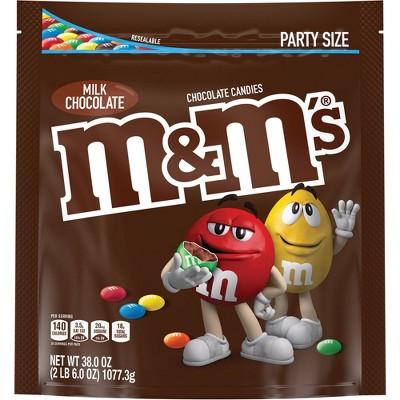 M&M's Party Size Milk Chocolate Candies - 38oz