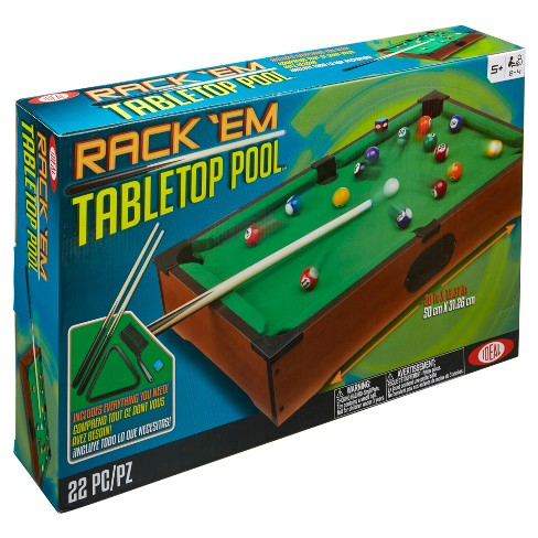 Ideal Rack'Em Tabletop Portable Pool Game - image 1 of 5