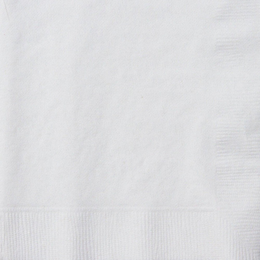 Image of 50ct White Cocktail Beverage Napkin