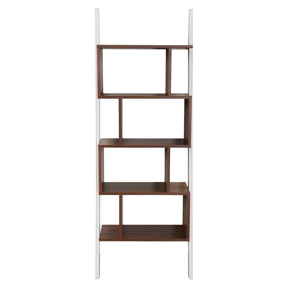 Ascencio Ladder Bookshelf and Display Case - Homes: Inside + Out, Canyon Brown/Gallery White