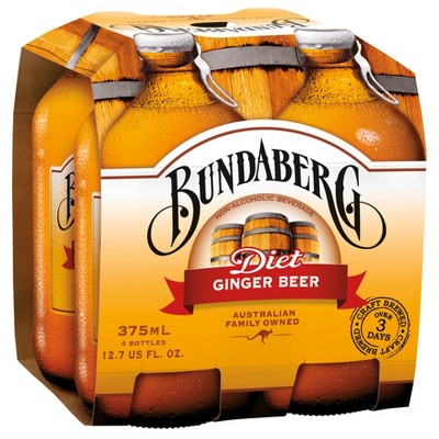 Bundaberg Diet Ginger Beer - 4pk/375ml Bottles