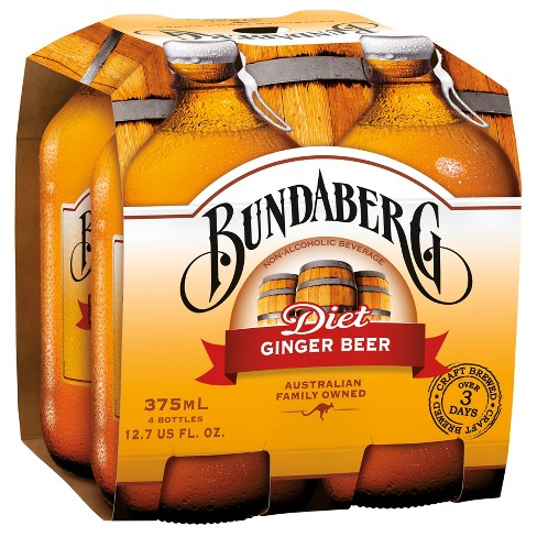 Bundaberg Diet Ginger Beer - 4pk/375ml Bottles - image 1 of 2