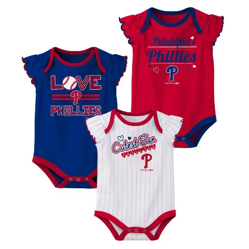 quality design 92a25 21c1f MLB Philadelphia Phillies Girls' Bodysuit 3pk